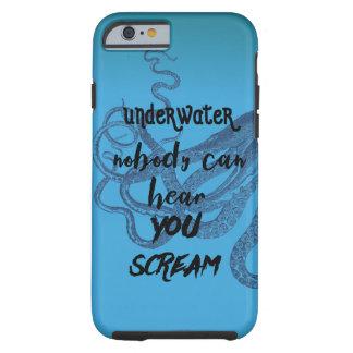 水中だれもタコの青を叫ぶのを聞くことができません ケース