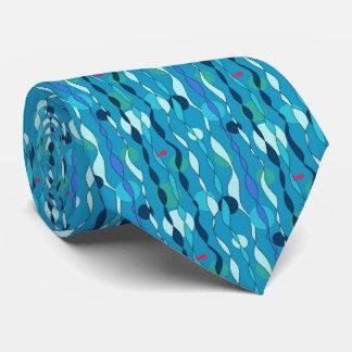 水中に青いタイ カスタムネクタイ