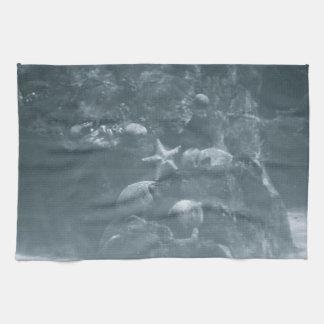 水中グレースケール キッチンタオル
