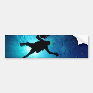 水中ダイバー バンパーステッカー