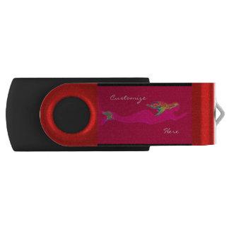 水中ピンクの人魚 USBフラッシュドライブ