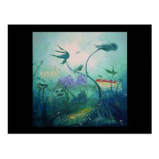水中世界のギフト ポストカード