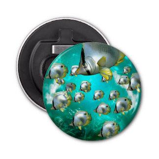 水中世界、すばらしいbutterflyfish 栓抜き