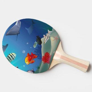 水中場面 ピンポンラケット