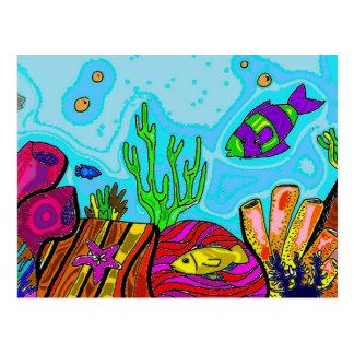 水中場面 ポストカード