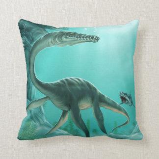 水中恐竜の装飾用クッション クッション