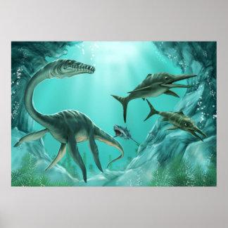 水中恐竜ポスター ポスター