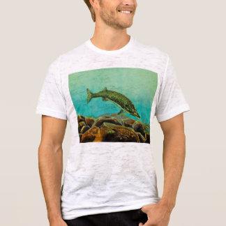 水中捕食者のパネル2パイク Tシャツ
