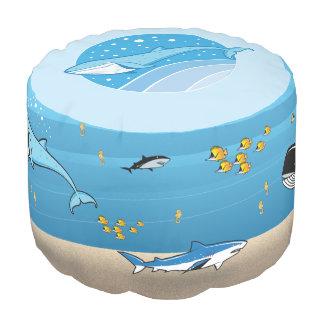 水中海のクジラの魚の鮫の漫画のPouf プーフ