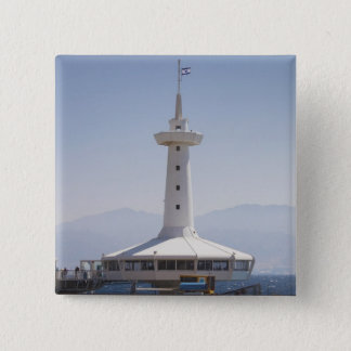 水中海洋公園、観測塔 5.1CM 正方形バッジ