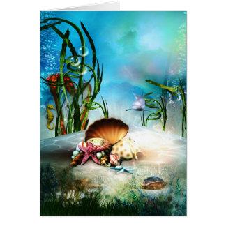 水中海洋生物のメッセージカード カード