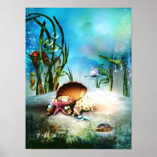水中海洋生物ポスター ポスター