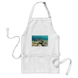 水中礁湖のウミガメの静けさ スタンダードエプロン