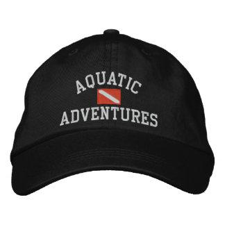 水中競技は帽子を冒険します 刺繍入りキャップ