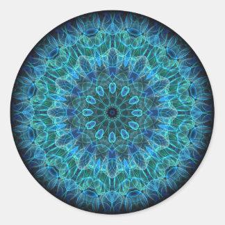 水中美しいの万華鏡のように千変万化するパターン ラウンドシール