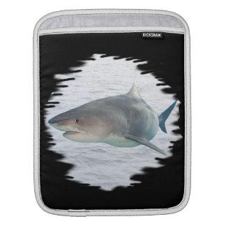 水人力車の袖の鮫 iPadスリーブ