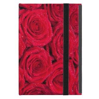 水低下の赤いバラ iPad MINI ケース