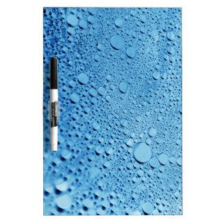 水低下の青い背景のデザイン ホワイトボード