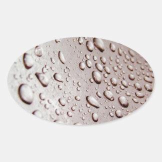 水低下 楕円形シール