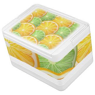 水分が多いライムおよびオレンジパターン IGLOOクーラーボックス