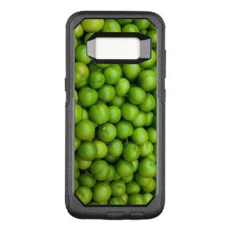 水分が多い緑のりんごの写真の印画 オッターボックスコミューターSamsung GALAXY S8 ケース