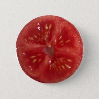 水分が多く赤いトマト 5.7CM 丸型バッジ