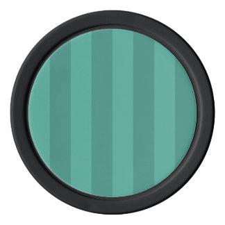 水及びティール(緑がかった色)は縞で飾ります ポーカーチップ