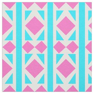 水及びピンクのダイヤモンドの生地 ファブリック