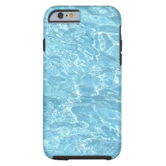 水夏期の日光の青いプールのiPhoneの箱 ケース