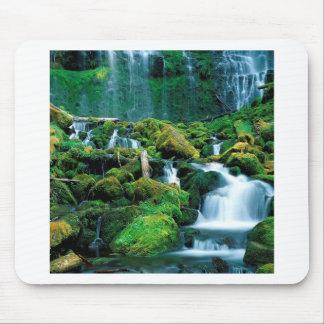 水委任状の滝の滝の範囲オレゴン マウスパッド