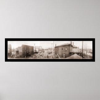 水害のデイトンの写真1913年 ポスター