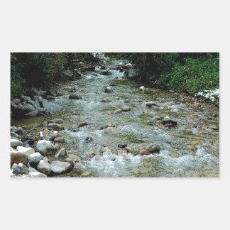 水川の野生の展望 長方形シール