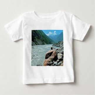 水川山の洪水銀行 ベビーTシャツ