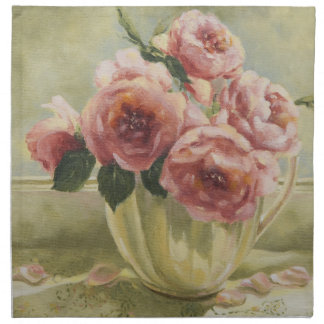 水差しの0437匹の英国のバラ ナプキンクロス