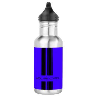 水差しの-青及び黒い車 ウォーターボトル