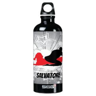 水差しを爆発している名前入りなレスリング選手 ウォーターボトル