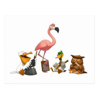 水差しバンドOの鳥の郵便はがき ポストカード