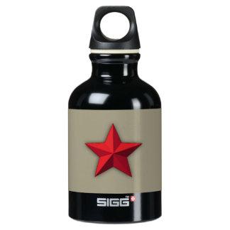 水差し、アルミニウム水差し、赤い星 ウォーターボトル