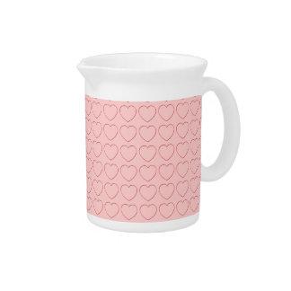 水差し-ピンクのワイヤーによって組み立てられるハート ピッチャー