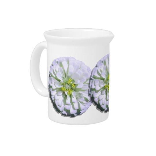 水差し-レモン味の白い《植物》百日草 ピッチャー