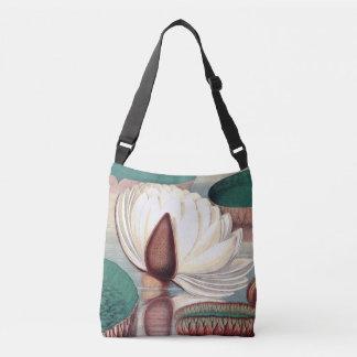 水庭の《植物》スイレンの花の花のバッグ クロスボディバッグ