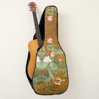 水庭の《植物》スイレンの花の鳥のギターのバッグ ギターケース