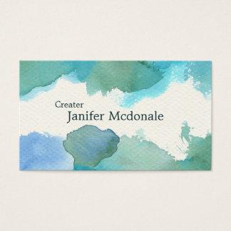 【水彩名刺】 Watercolor Business card (Blue) 名刺