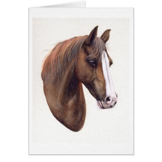 水彩画で絵を描かれる馬 カード