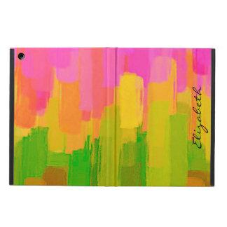 水彩画によって着色される抽象的な背景#7 iPad AIRケース