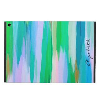 水彩画によって着色される抽象的な背景 iPad AIRケース