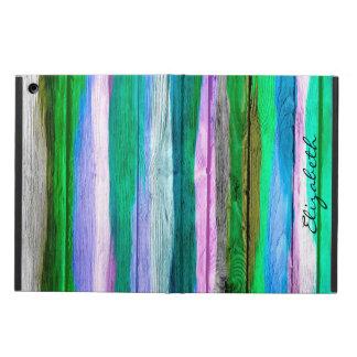 水彩画によって着色される木製の背景#2 iPad AIRケース