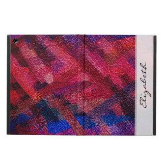 水彩画によって着色される革背景 iPad AIRケース