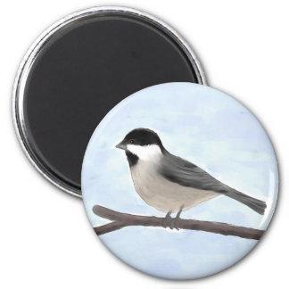水彩画によって黒おおわれる《鳥》アメリカゴガラの磁石 マグネット
