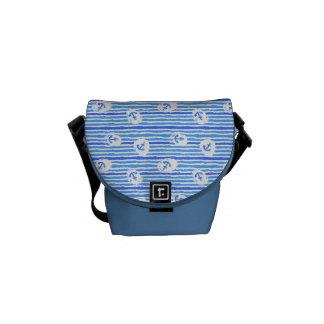 水彩画のいかりパターン1 メッセンジャーバッグ